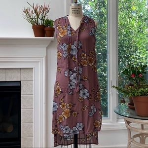 Wild Pearl Floral Tunic